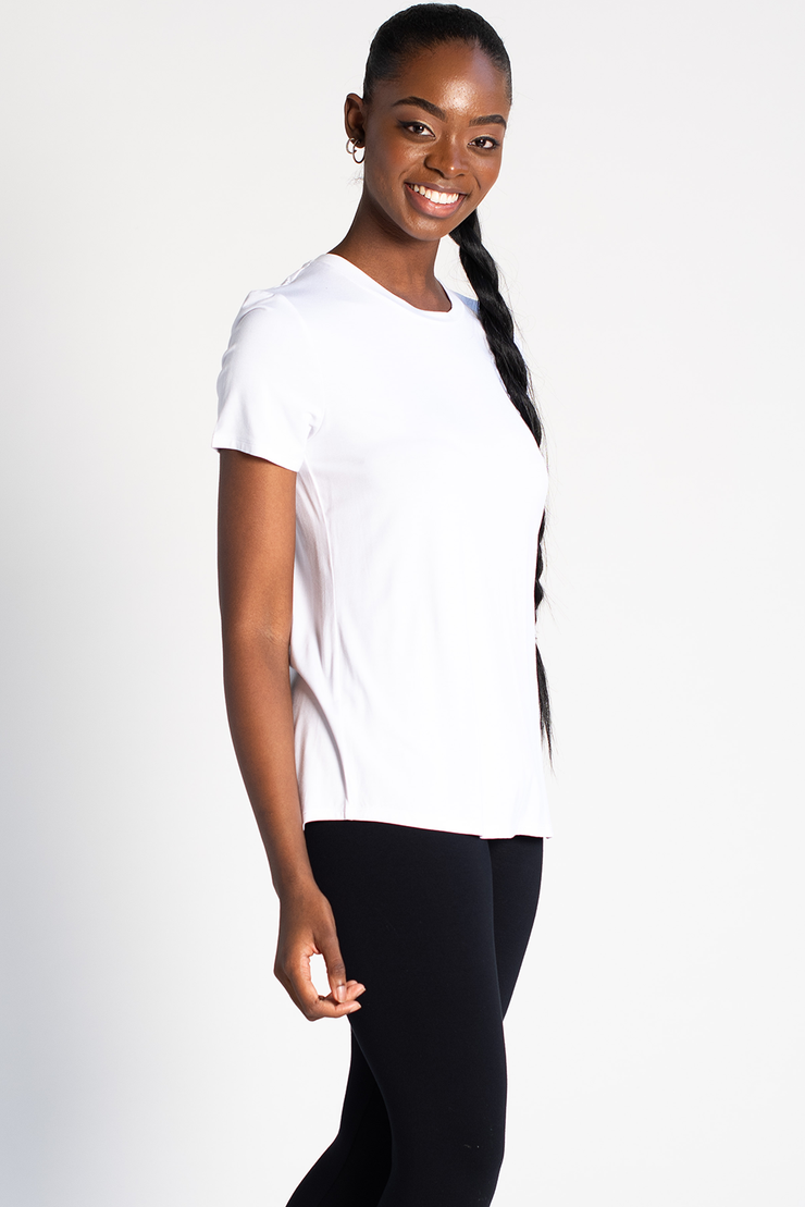 Gracie Crew Neck Tee - White