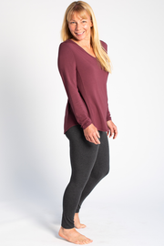 Kelsey Ribbed Sweater - Plum