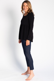 Kara Square Neck Top - Black