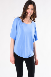 Laura Relaxed Fit Blouse - Periwinkle Blue