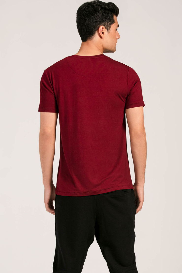 Lawrence Crew Neck Tee - Cabernet