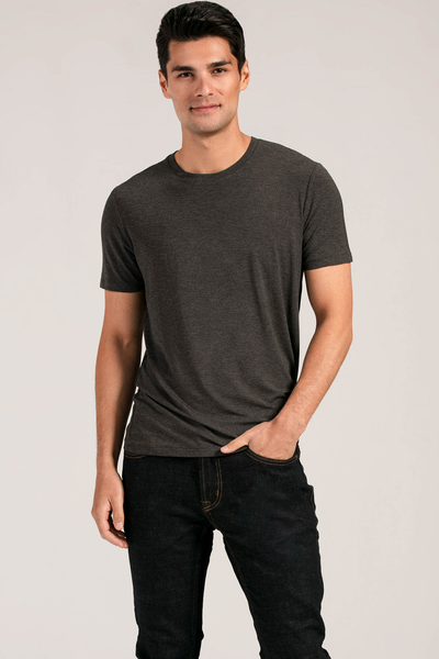 Lawrence Crew Neck Tee - Charcoal
