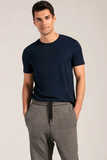 Mens Organic Bamboo Viscose Essential tshirts in Ink Blue - LNBF Sustainable Clothing Designed in Canada