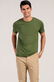 Mens Organic Bamboo Viscose Essential tshirts in Willow Green - LNBF Sustainable Clothing Designed in Canada
