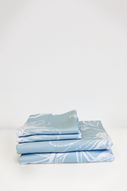 Organic Bamboo Viscose Duvet Cover Set in Blue - LNBF Luxury Bedding Designed in Canada