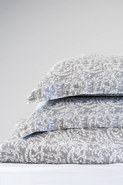 Organic Bamboo Viscose Printed Duvet Cover Set in Grey Floral - LNBF Luxury Bedding Designed in Canada