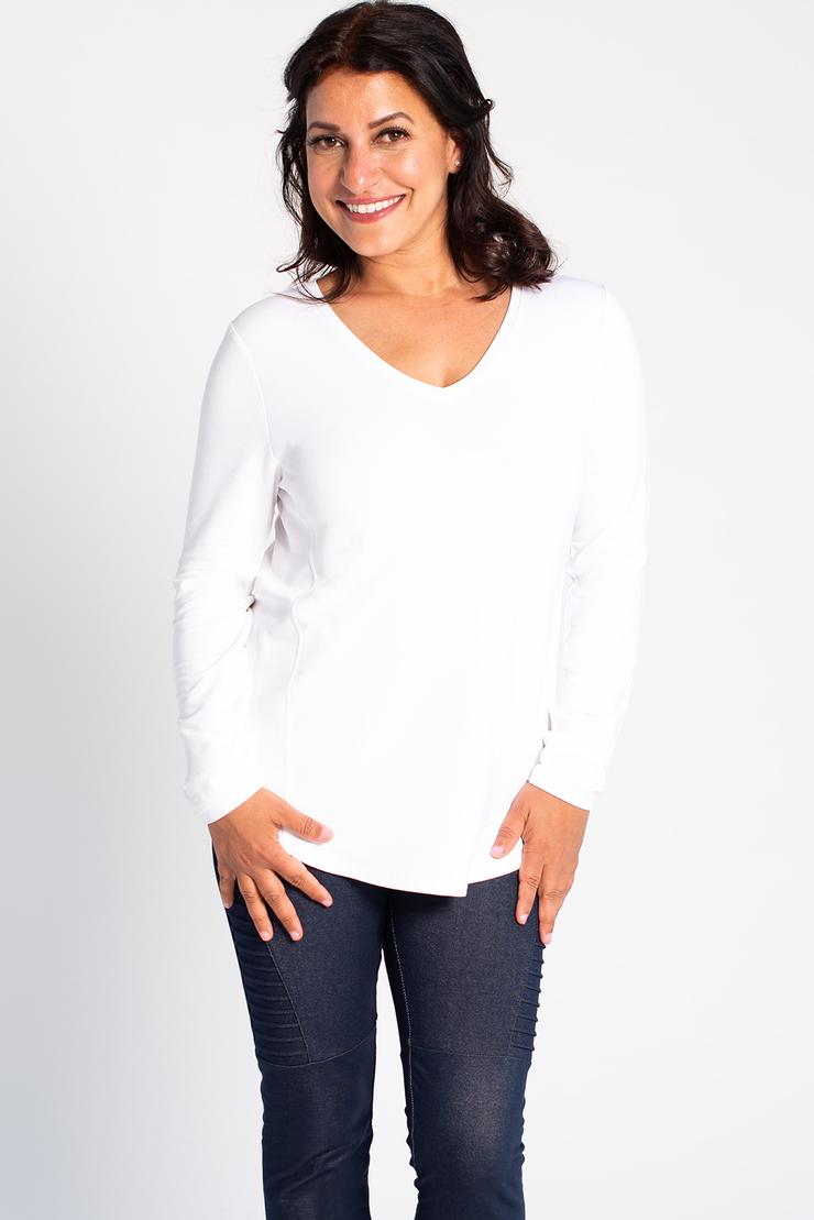 Kelsey Ribbed Sweater - White