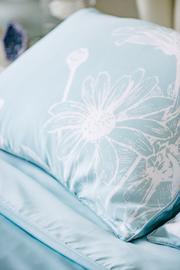 LNBF Printed Blue Duvet Cover Set