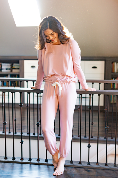 Snuggle-up Lounge Pant - Light Pink