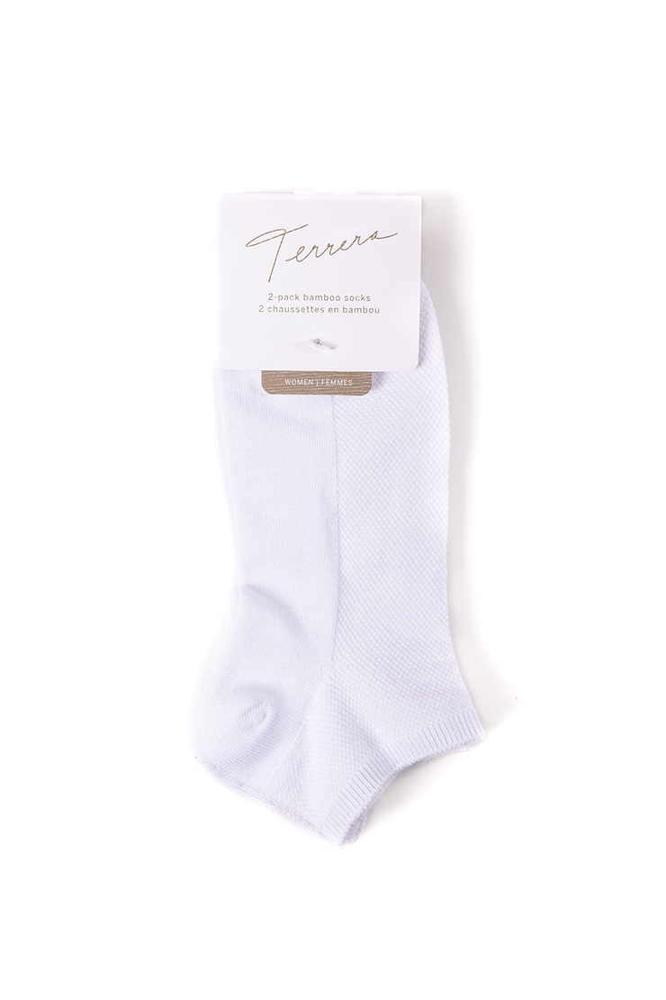 Ladies' 2-pack Ankle Length Socks - White - 3 Sets