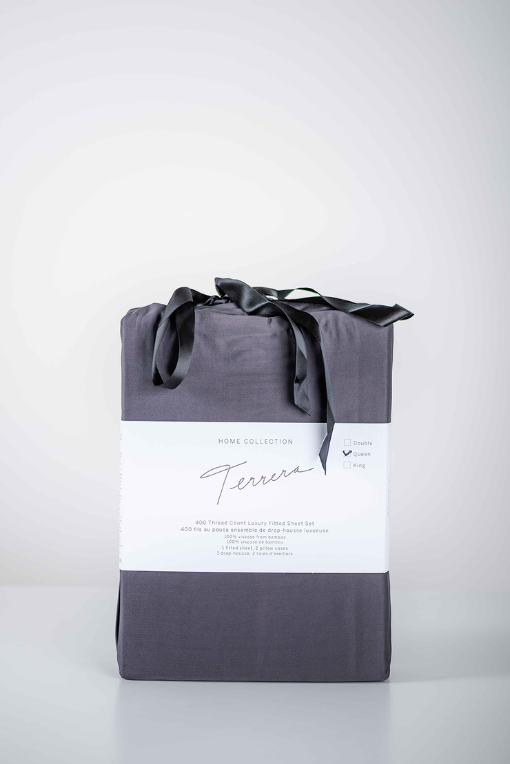 Terrera Bamboo Fitted Sheet & Pillowcase Set