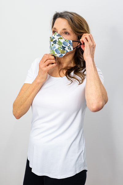 3-Pack Panelled Face Mask - Mix Blooms Set