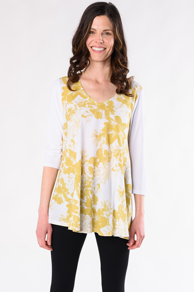 Anna Print Tunic - Yellow