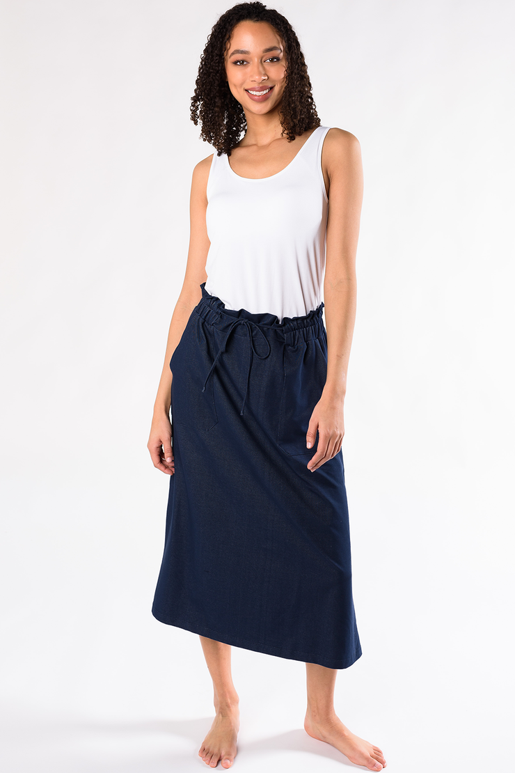 Ashton Denim Skirt - Blue Denim