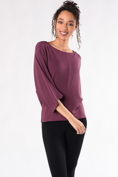 Beckett Wide Sleeve Top - Plum