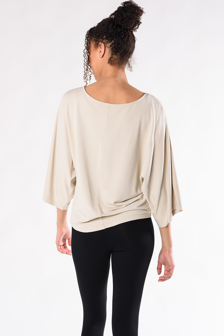 Beckett Wide Sleeve Top - Stone