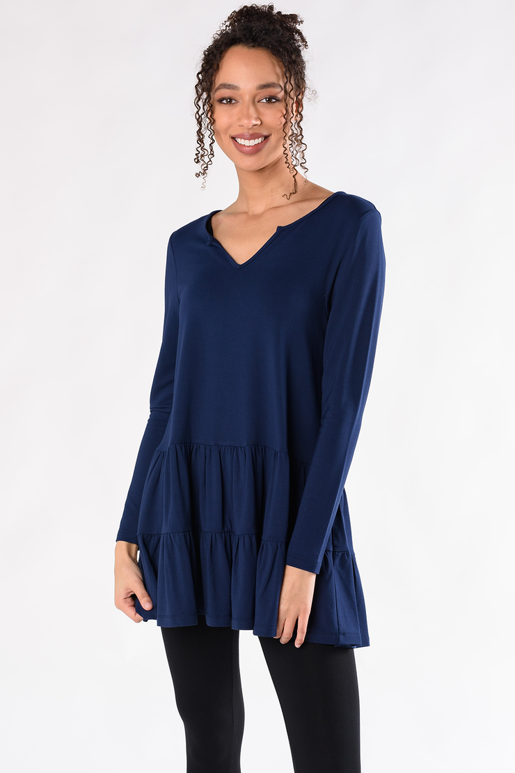 Sadie Tiered Tunic - Ink
