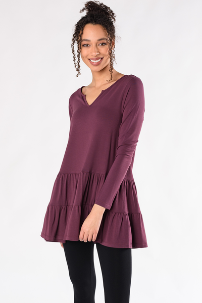 Sadie Tiered Tunic - Plum