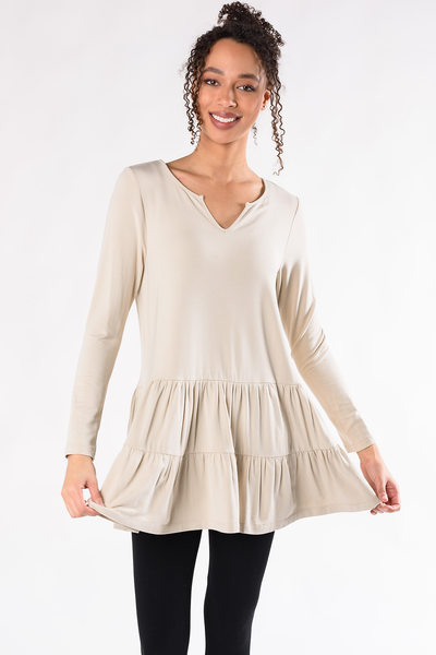 Sadie Tiered Tunic - Stone