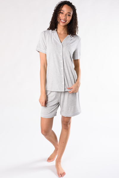 Vivian Sleep Set - Grey Melange