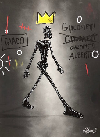 SHEM - Giacometti vs Basquiat (black version) - Original