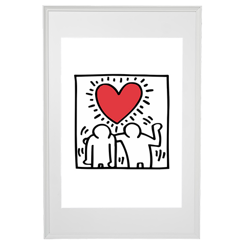 Keith Haring (after) - Heart