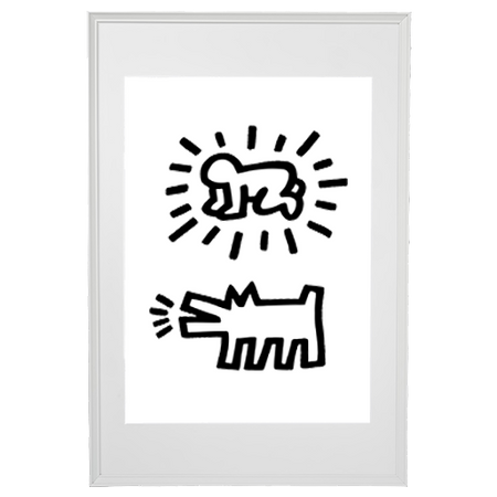 Keith Haring (after) - Dog and Baby