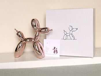 Balloon dog Rose Gold - Jeff Koons (after)
