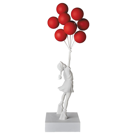 Banksy (after) - Brandalism Girl with Balloons Red - Get 25% OFF