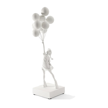 Banksy (after) - Brandalism Girl with Balloons White