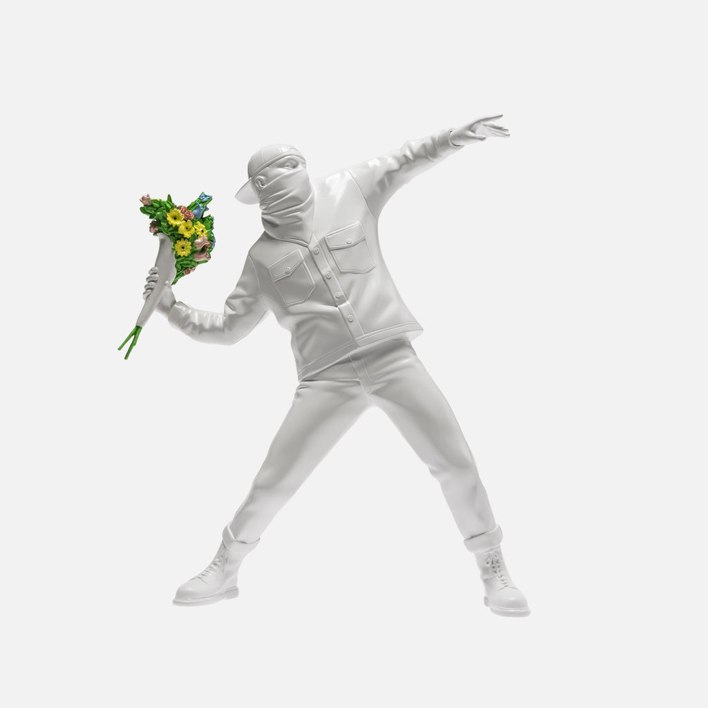 Banksy (after) - Brandalism Flower Thrower White