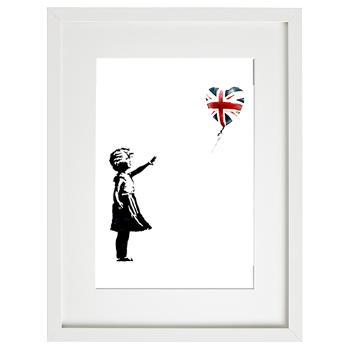 Banksy (after) - Girl With Balloon UK Flag
