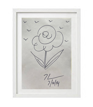 Jeff KOONS - Flowers - Original Drawing - Special Offer