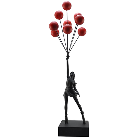 Banksy (after) - Brandalism Girl with Balloons Black - Get 25% OFF