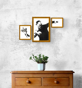 Banksy (after) - Thrower (triptych) - 48h only