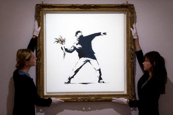 Banksy (after) - Love is in the air - 48h only