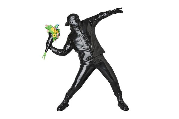 Banksy (after) - Brandalism Flower Thrower Black