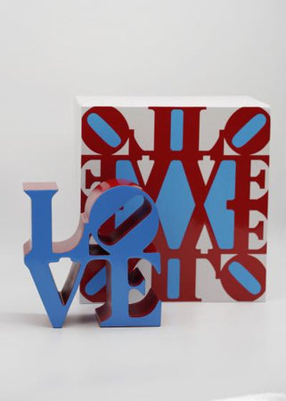 Robert Indiana (after) - LOVE (Blue & Red)