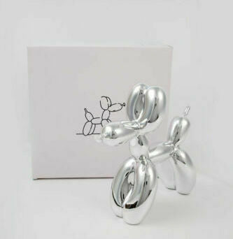 Balloon dog Silver - Jeff Koons (after)