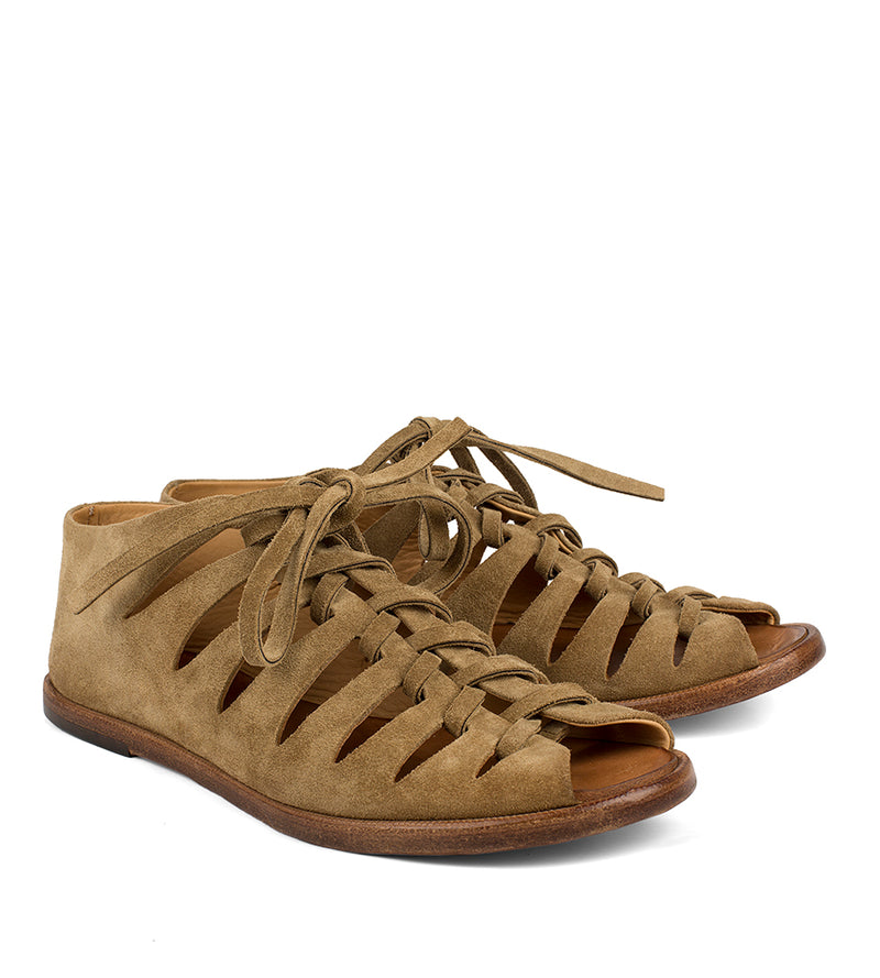 XENIA 45013 <br>Light brown slave sandals