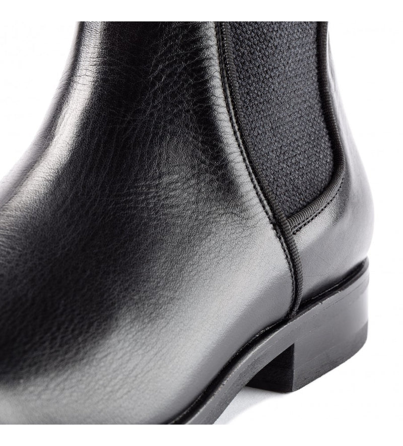 33060, Black Show jumping laceless riding boots., vista 1