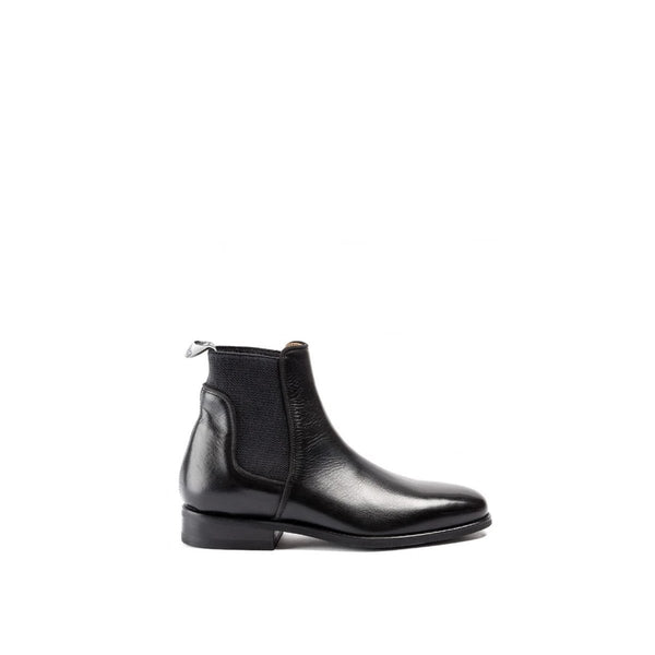 33060<br> Jumping boots in black calf leather