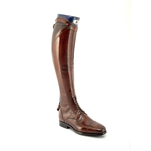 33080, Brown Standard riding boots, vista 3