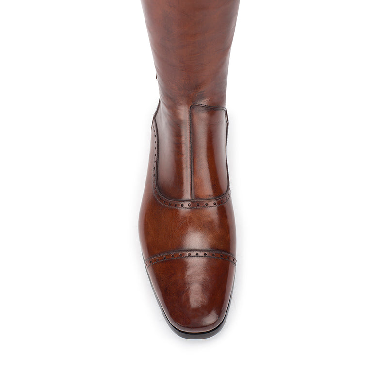 33202, Brown Standard riding boots, vista 5