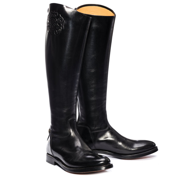 ADAM 613, Black Boots Black leather, vista 2