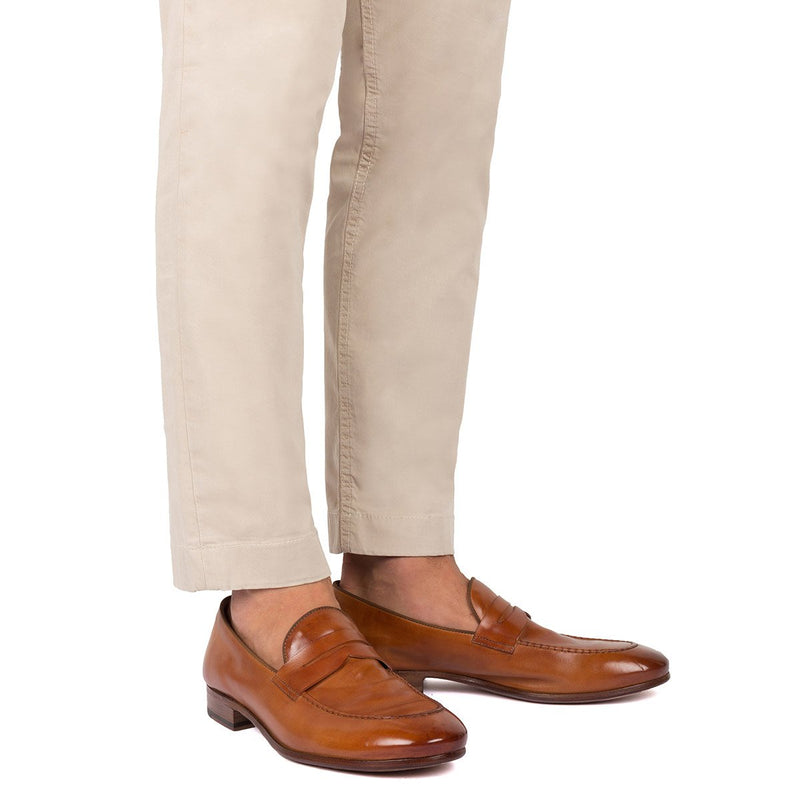 BRIAN 61011<br>Tan horse loafers