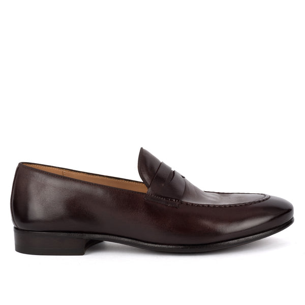 BRIAN 61011<br>Dark brown horse loafers