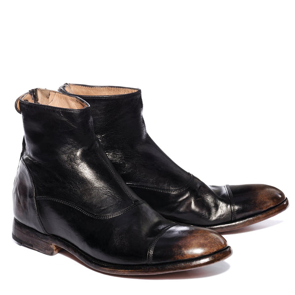 ELIAS 10000 , Aged Black Ankle boots , vista 2