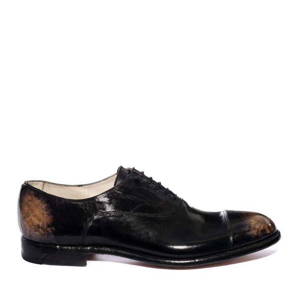 ELIAS 15012, Aged black stone oxford shoes , vista 1