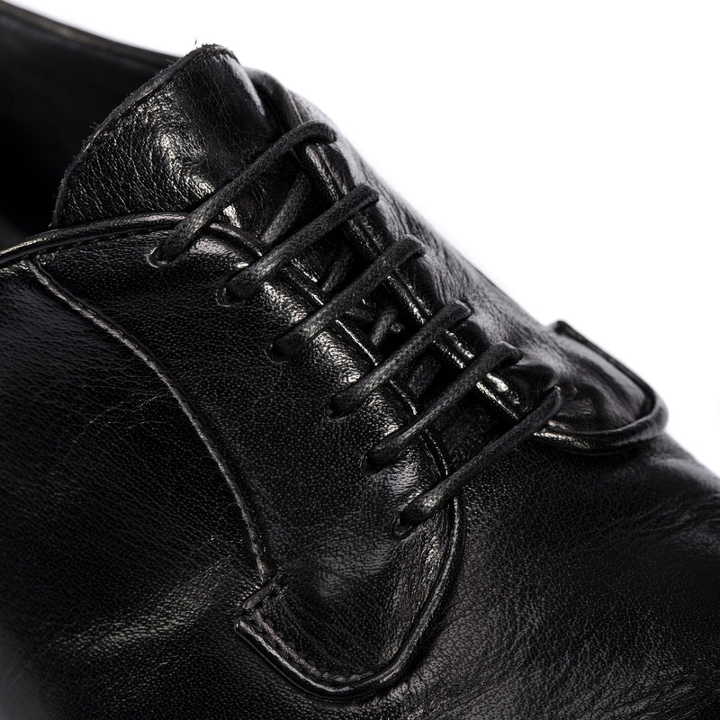 ELIAS 617, Black washed derby shoes, vista 3